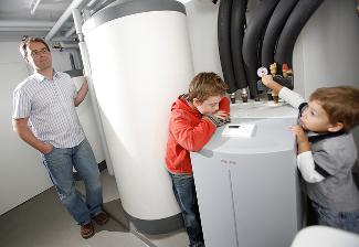 pompa ciepła w budynku jednorodzinnym