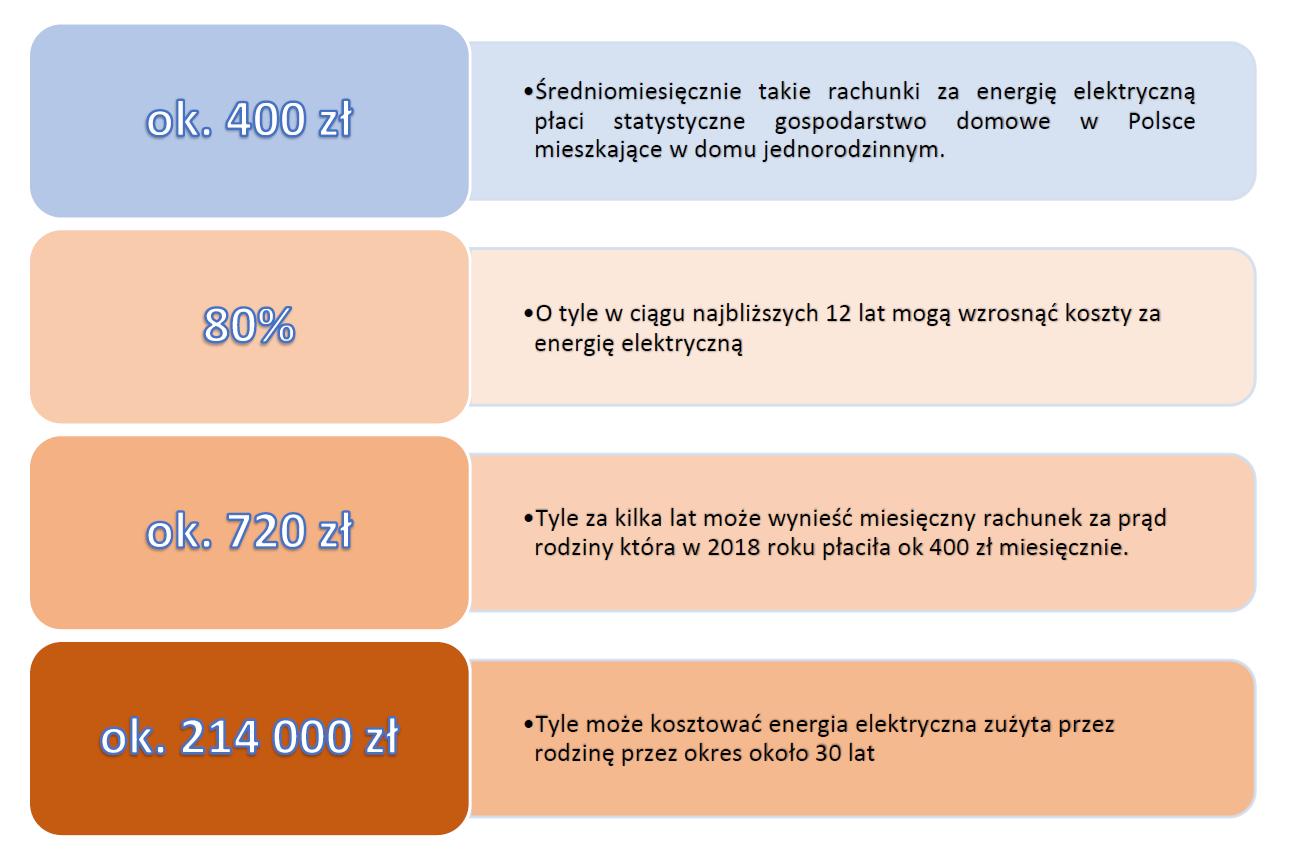 koszty energii elektrycznej statystycznej rodziny