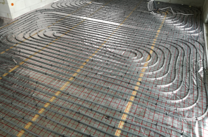 pętle ogrzewania podłogowego