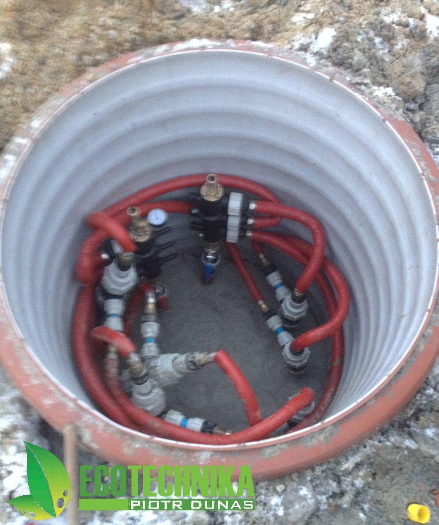 studnai rozdzielaczowa pionowego wymiennika ciepła