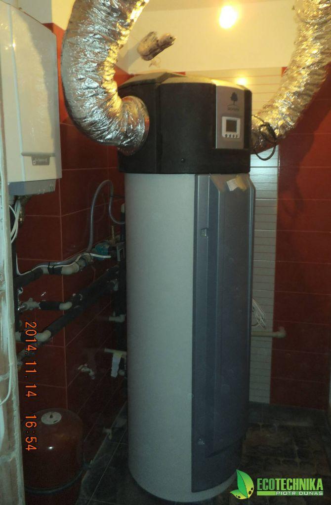 powietrzna pompa ciepła przygotowania c.w.u.